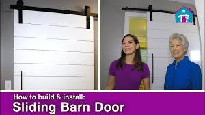how to make barn style doors how to build u0026 install a barn door youtube