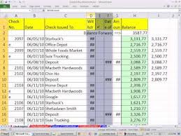 checkbook register for excel excel 2010 business math 40 create checkbook register in excel