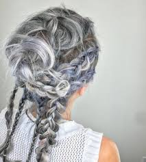 highlights for grey hair pictures 25 cool black and grey hair color ideas that are trendy now