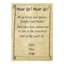 Scroll Invitation Hear Ye Hear Ye Scroll Invitations Zazzle Com