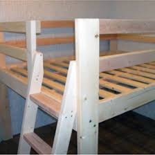Free Plans For Loft Beds With Desk by Free Woodworking Plans To Build A Full Sized Low Loft Bunk The