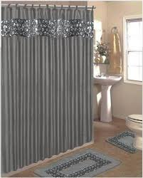 Gray Shower Curtains Fabric Exclusive Design Brown And Gray Shower Curtain Fancy Curtains