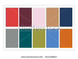 2017 colors of the year fall colors 2017 colors year palette stock vector 614448863