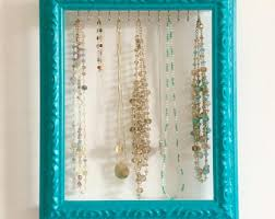 Shabby Chic Jewelry Display by 9 Hook Wood Necklace Holder Jewelry Display Necklace