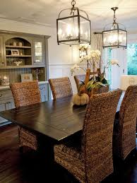 dining room endearing set of black stained wooden seagrass