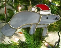 manatee ornament etsy