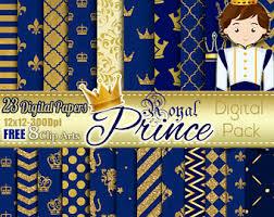 Royal Prince Decorations Royal Blue Crown Etsy