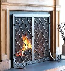 Ideas Fireplace Doors Modern Glass Fireplace Door Paulwroe Info
