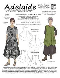 pattern art pdf adelaide small sizes pdf sewing pattern boho banjo art to wear