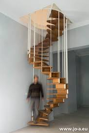 olmo spiral staircase at the end of the installation design by jo