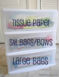 organize your gift wrap collection