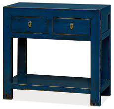 Blue Console Table Enchanting Console Table With Elm Wood Console