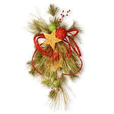 christmas swag christmas wreaths u0026 garland the home depot