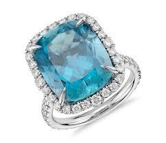 aquamarine engagement rings aquamarine and diamond ring in 18k white gold 9 26 ct center