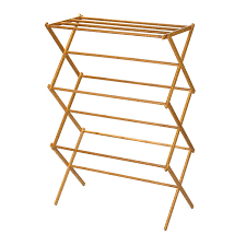 Clothes Dryer Stand Online Amazon Com Household Essentials 6524 Tall Indoor Folding Wooden