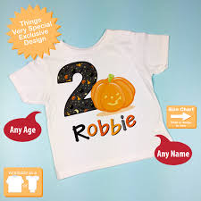 birthday halloween halloween birthday second birthday pumpkin tee shirt or onesie