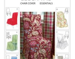 Pattern For Dining Room Chair Covers by Chair Cover Pattern Etsy