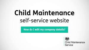child maintenance how do i edit my company details youtube