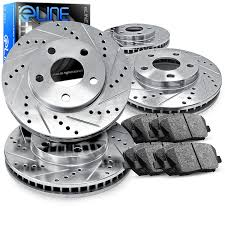 lexus rx300 brake pads amazon com front and rear eline drilled slotted brake rotors