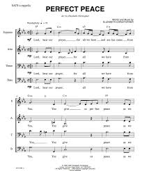 peace satb worship song choir piano score for 20 00