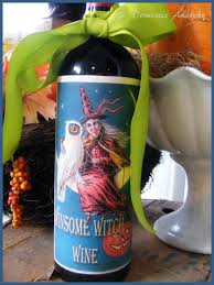 Halloween Entertaining - domestic anarchy free wine label for halloween entertaining