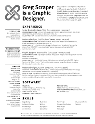 Graphic Designer Resume Objective 10 Best Images Of Open Graphic Resume Templates Creative Graphic