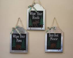 Buy Wipe Your Paws Door Wipe Your Paws Sign Etsy