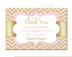 thank you baby shower luxurious look baby girl shower thank you cards golden pattern