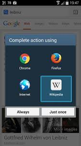 how to disable redirects from google search results to android