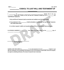 codicil to will template create u0026 download a codicil to a will
