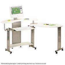 Breiter Schreibtisch Schreibtisch Drehbar Rollen Schwenkbar Tisch Arbeit Arbeitszimmer