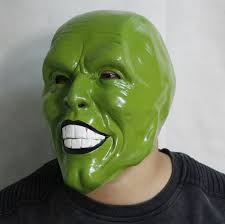 the mask jim carrey latex mask halloween costume prop in party