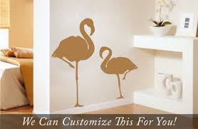 flamingo birds pair standing big and small large wall vinyl decal flamingo birds pair standing big and small large wall vinyl decal sticker art silhouette 2042