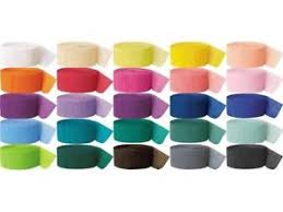crepe paper streamers 81ft crepe paper streamer all colours party wedding anniversary