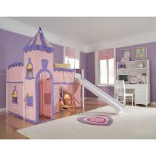 NE Kids School House White Junior Loft With Slide And Princess - Ne kids bunk beds