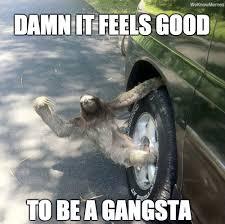 Funny Sloth Memes - thug sloth weknowmemes
