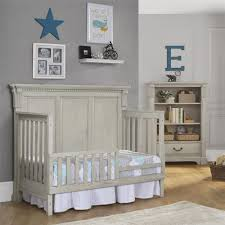 Toddler Bed With Rail Dorel Living Monbebe Everett Toddler Bed Guard Rail Antique Gray