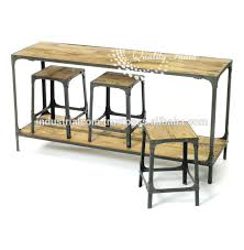 industrial bar table and stools wood and metal bar table with bar stool buy bar table with wheels