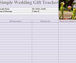 wedding gift lists wedding gift list template wedding gift tracker template