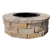 home depot fire table pavestone rumblestone 38 5 in x 14 in square concrete fire pit kit
