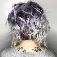 shag haircut brown hair with lavender grey streaks the most awesome images on the internet grey highlights gray