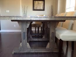 ana white leave it to joy triple pedestal wide farmhouse table
