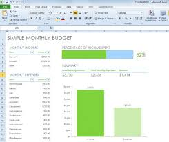 Excel Spreadsheet For Budgeting Simple Monthly Budget Spreadsheet For Excel 2013 Free Excel