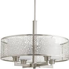 brushed nickel pendant lighting kitchen progress lighting mingle collection 4 light brushed nickel pendant