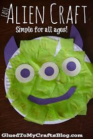 easy paper plate alien kid craft aliens crafts and spaces