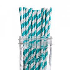 paper straws dress my cupcake aqua striped paper straws 25 pack