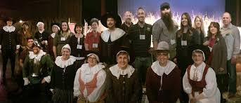 thanksgiving point org utah mayflower society members eat like pilgrims