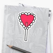 heart lollipop heart lollipop tattoo stickers by retr0babe redbubble