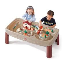 step2 deluxe canyon road train and track table with lid step2 deluxe canyon road train and track table hsn gift list
