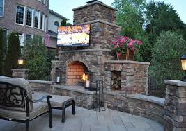 outdoor kitchen and fireplace home decor ryanmathates us